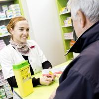 Boîte DASRI en pharmacie