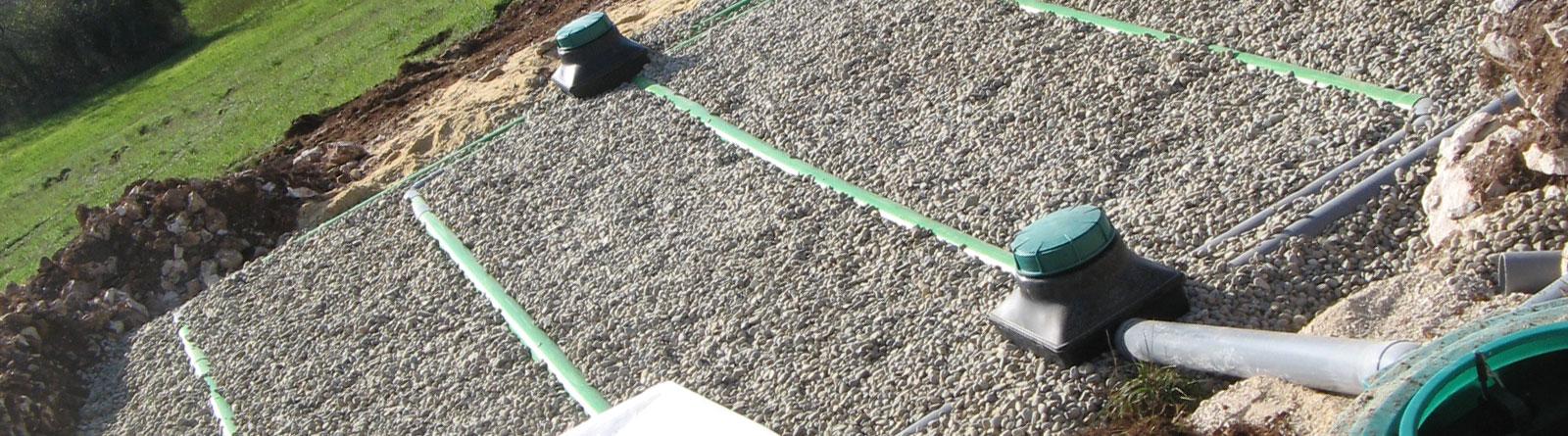 Installation d'un système d'assainissement individuel des eaux usées