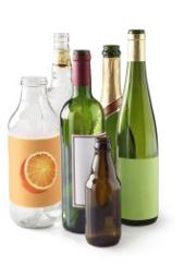 Bouteilles en verre au récup'verre
