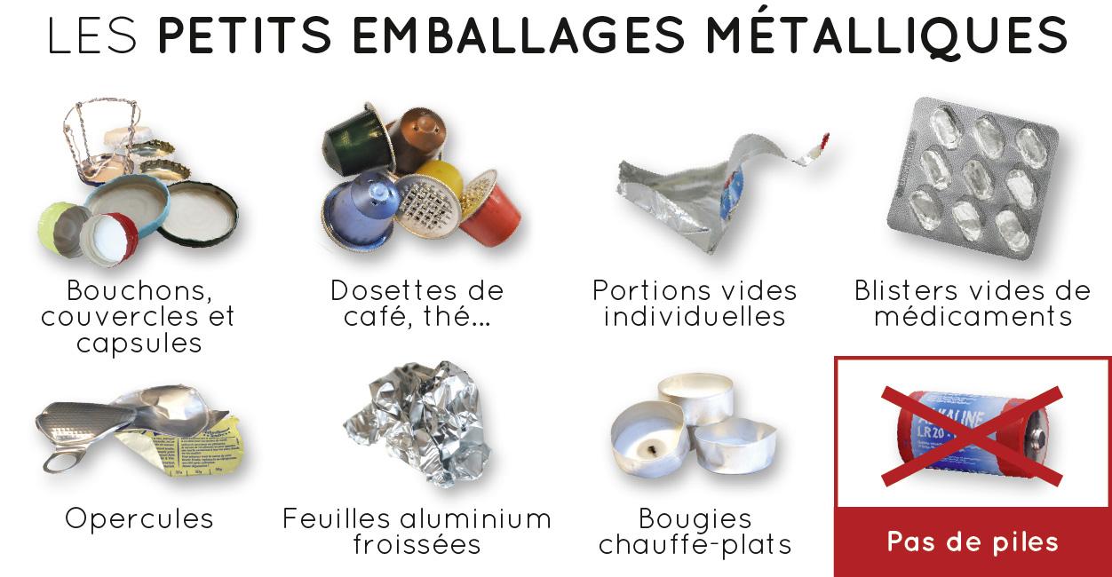 Les petits emballages métalliques